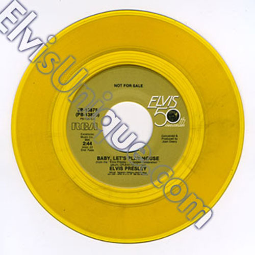 Baby Let's Play House/Hound Dog Rare Gold Vinyl Promo Image