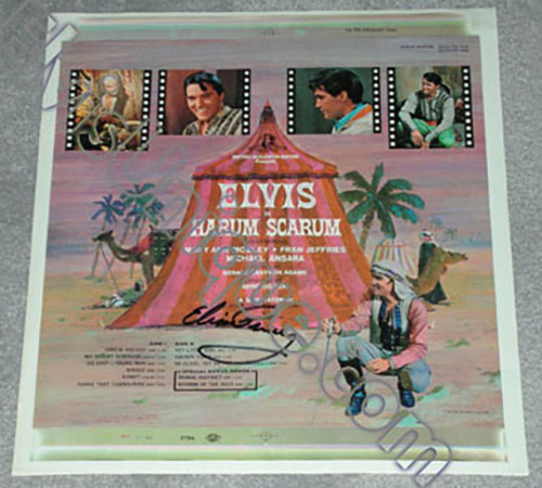 Autographed Elvis Promotional Harum Scarum Proof Cover Image