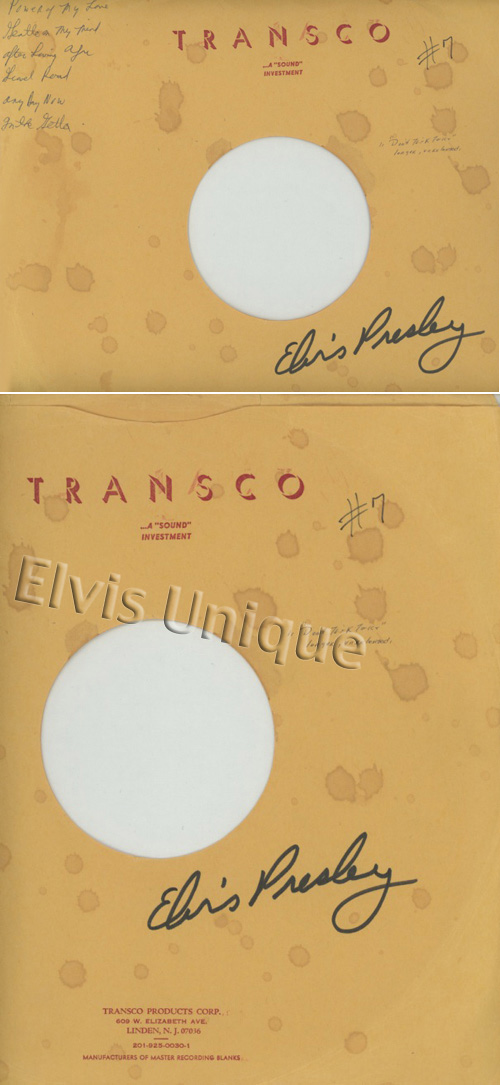 Transco Autographed Acetate Cover Only Image