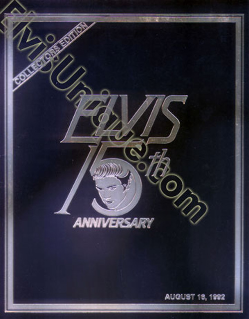 Elvis Presley 15th Anniversary Collectors Book Image