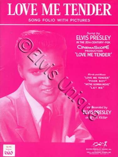 Love Me Tender Song Folio Image