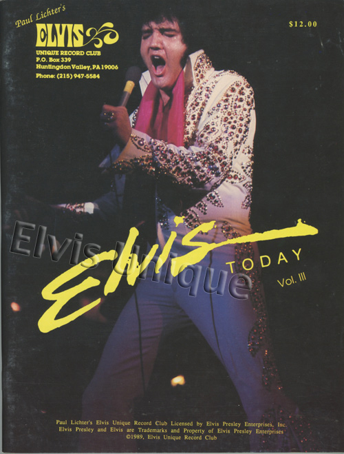 Elvis Today Vol. 3 Price Guide Book Image