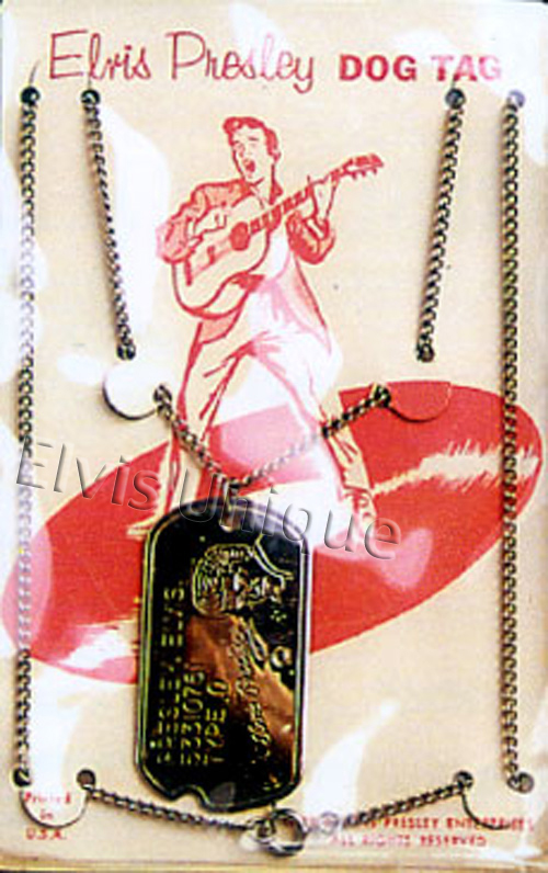 Dog Tag Necklace © 1956 Image