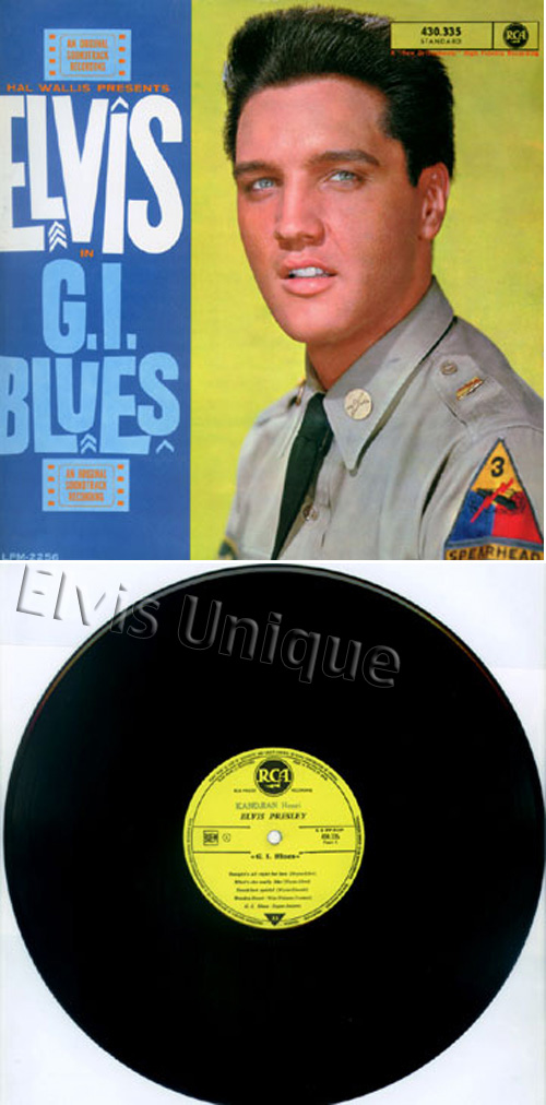 G.I. Blues Mega-Rare Custom Promotional Man LP Image