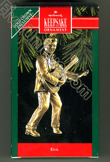 Figurine - ©1992 Elvis Hallmark Christmas Ornament Image