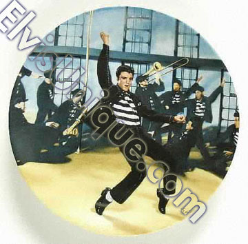 Plate Bradford Exchange - Looking At A Legend Series #2 - Jailhouse Rock Image