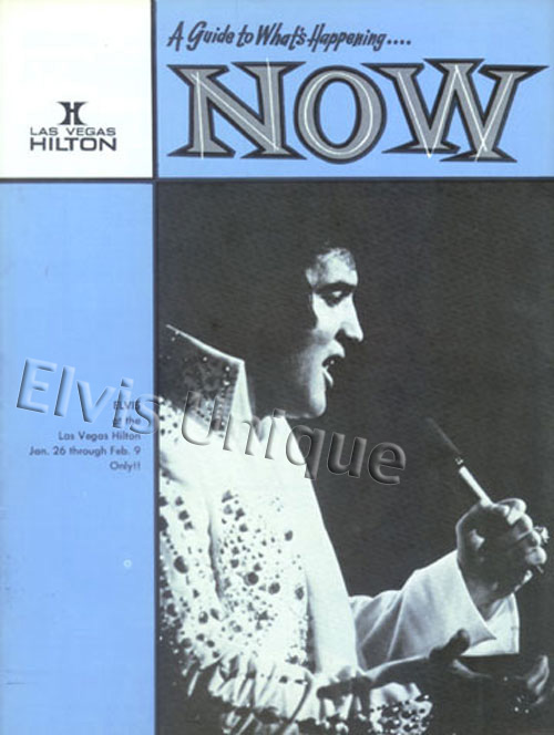 Elvis Now Hilton Magazine February 1, 1974 Image