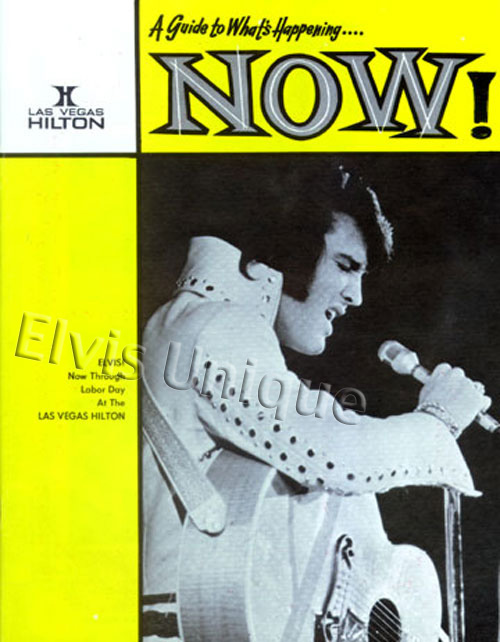 Elvis Now Hilton Magazine August 30, 1974 Image