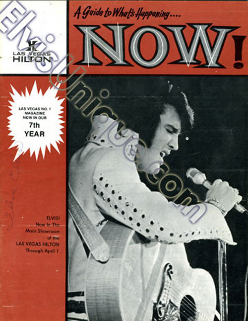 Elvis Now Hilton Vegas Magazine March 21, 1975 Image