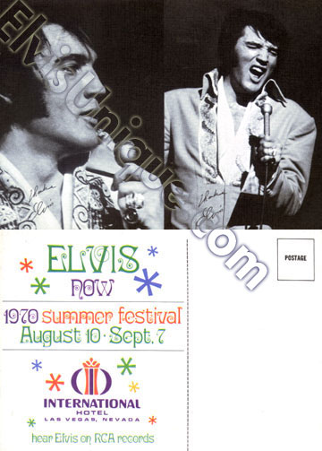 Elvis August 1970 Summer Festival Image