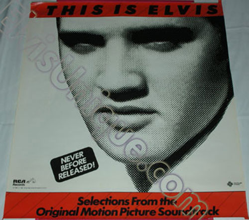 RCA This Is Elvis Record Store Display Poster Image