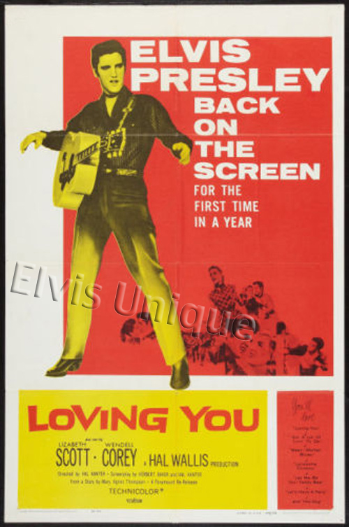 Rare Loving You Mint Linen Backed One-Sheet Movie Poster Image