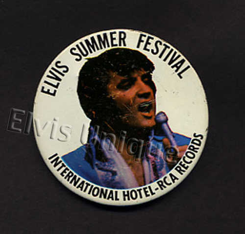 Elvis International Hotel Summer Festival-RCA Records Button Image