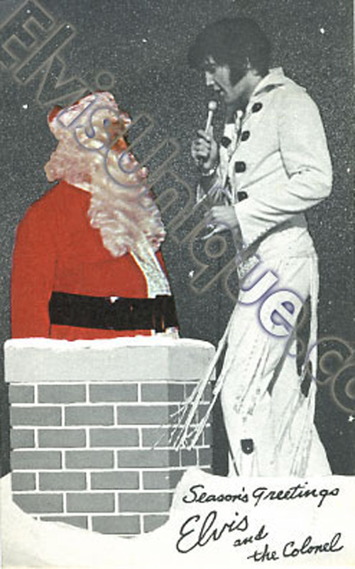 Elvis And The Colonel International Hotel Vegas 1971 Christmas Card Image