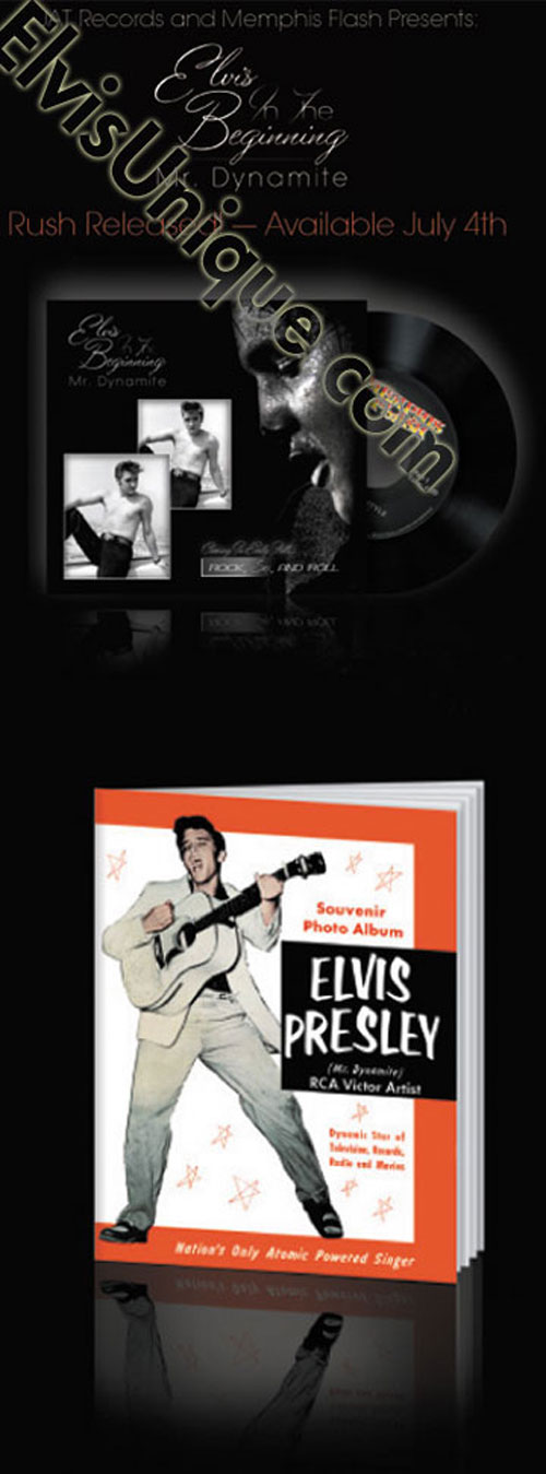 Elvis In The Beginning Mr. Dynamite Tour Book & Record Image